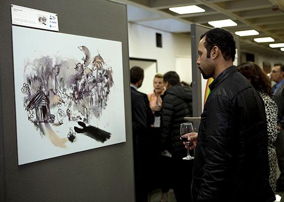 Fotografía-de-Evento-Acnur-Galería-de-Arte-Fotografo-Profesional-Ñuñoa-Santiago
